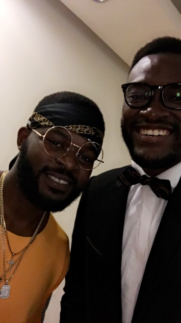 Falz (left) and I